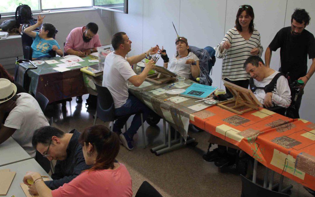 Compartimos nuestro Taller de Arte con los alumnos del curso de dinamización comunitaria de Fundesplai