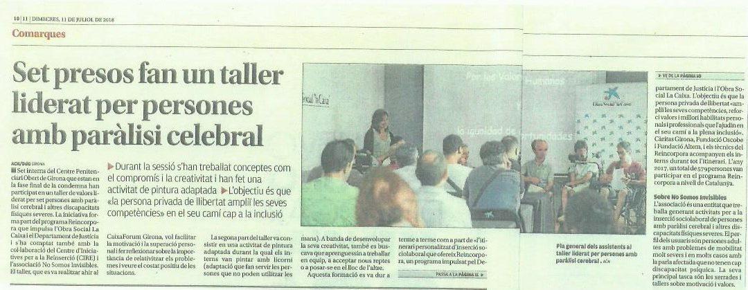 Noticia en el Diari de Girona