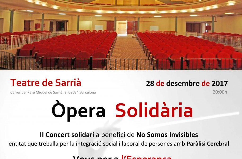 II CONCIERTO DE ÓPERA SOLIDARIA PARA NO SOMOS INVISIBLES