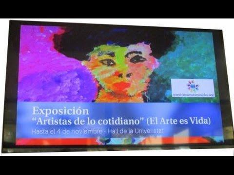 """EXPOSICIÓN DE NO SOMOS INVISIBLES """"EL ARTE ES VIDA"""" EN LA UNIVERSIDAD ABAT OLIBA CEU"""