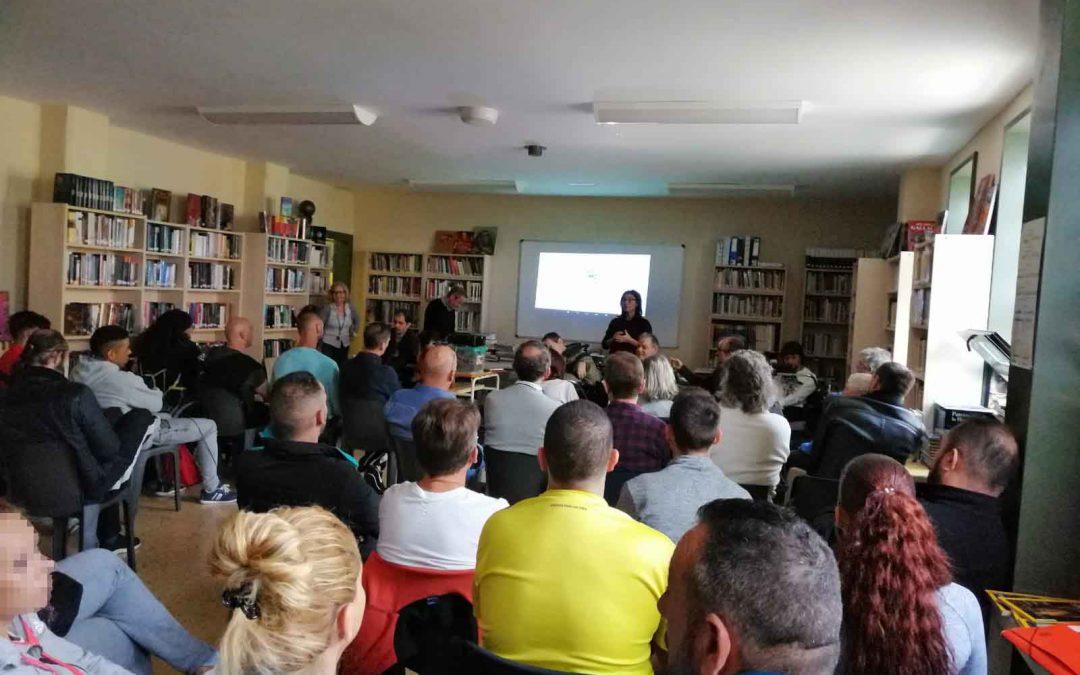 Taller sobre valores y motivación en el centro penitenciario de Puig de les Basses